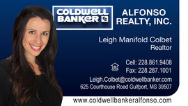Business Card Design for Alfonso Realty / Coldwell Banker