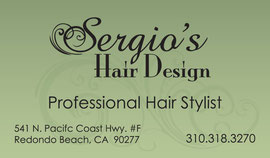Business Card Design for Sergio's Hair Design