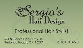 Business Card Design for Sergio's Hair Design