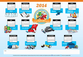 Custom Illustrations, Logo and Calendar Design for the City of Long Beach