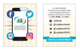 Social media outreach flyer design for the City of Long Beach