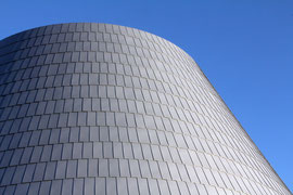 Exterior of School of Visual and Performing Arts in Downtown LA.