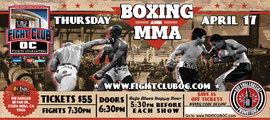 Flyer for Fight Club OC - Front