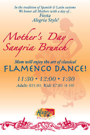 Poster Design for Alegria Restaurant