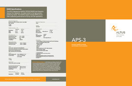 Brochure design for Altus - Cover