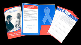 Pocket Folder with Inserts design for Prostate Cancer Foundation