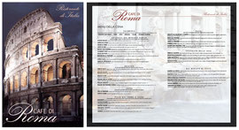 Menu Design for Cafe Di Roma