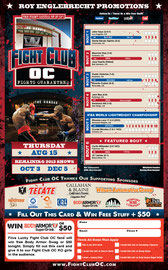 Fight Card for Fight Club OC - Front