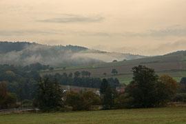 Nebel über dem Haunetal