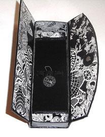 Stricknadelbox /Box aus Graupappe für Stricknadeln / Nadelspiele