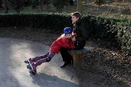 patins et câlin