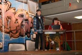 """""""Fake - oder: War doch nur Spaß"""" - Rolle: Vater (Foto © X, 2012), mit Dürten Thielk"""