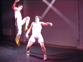"""""""Forever Jung - Zerfressen"""" im CASAMAXX-Theater Köln - Rolle: Satan de Luxe (Foto: © X, 2001), mit Christoph Seeger-Zurmühlen"""