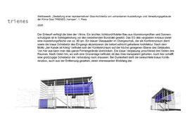 Projekt Ausstellungsraum für die Firma Trienes in Kempen - Glasanbau