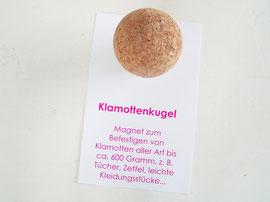 "Magnet ""Klamottenkugel"" - mobile ""Garderobe"" für Klamotten aller Art bis ca. 600 Gramm"