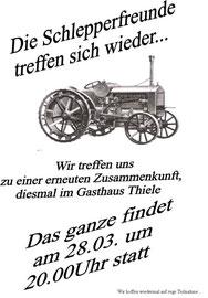 Der Flyer zur Gündungsversammlung