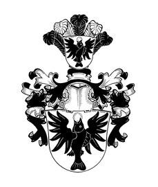 Familie O, Schwarzweiß-Strichzeichnung; Neustiftung