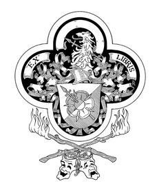 Exlibris für Herrn W., Tusche auf weißem Karton