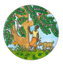 Eine Illustration für ein Buch mit Märchen aus Madagaskar