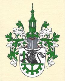 Familie N., Aquarellfarben auf marmoriertem Papier; Neustiftung