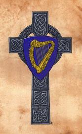 Wappen Irlands auf Hochkreuz