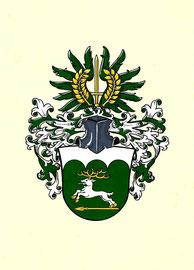 Familie W., Aquarellfarben auf marmoriertem Papier; Neustiftung