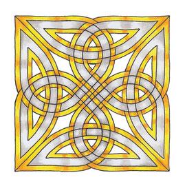 Keltischer Knoten (inspiriert durch Steinkreuz in Ulbster, Schottland)
