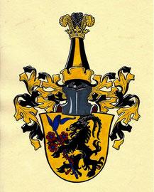 Familie M., Aquarellfarben auf marmoriertem Papier; Neustiftung
