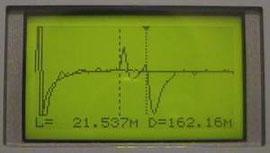 Рефлектограммы 2-х линий, наложенные друг на друга в режиме сравнения
