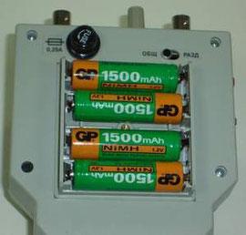 Вид РЕЙС-105Р со стороны блока аккумуляторов (крышка снята)