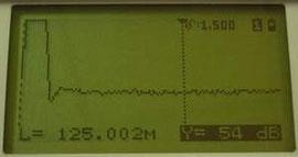 Вид на экран прибора РЕЙС-105М