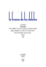 La tiranía de los débiles (de Marga Betis, 1946)