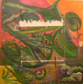 Óleo sobre tabla, 50 x 40 cm.(reverso)