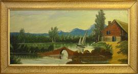Óleo sobre lienzo, 40 x 80 cm.