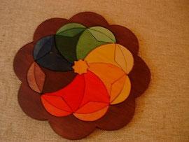 Holzarbeit - ein Mandalapuzzle selbst gefertigt