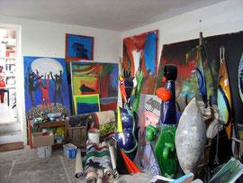 Jacky Coville-atelier-Source: article Art côte Par Florence CANARELLI