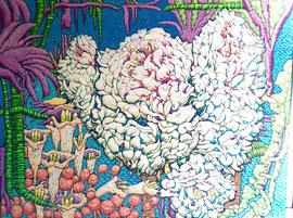 Karen Joubert acrylique sur panneau de bois   160X123cm  environ-visite d'atelier sur rendez-vous avec la galerie Gabel