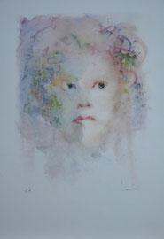 Lithographie.Léonor Fini , Epreuve d'artiste (E.A) Signée. galerie Gabel Biot-galerie côte d'Azur