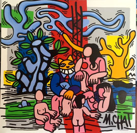 M.Chat (monsieur chat) 100X100cm monsieur Chat squatte Fernand Leger! galerie Gabel