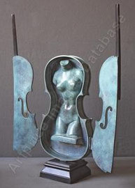 "Arman-""violon occulté""-Bronzecontemporary art gallery french riviera-Biot"