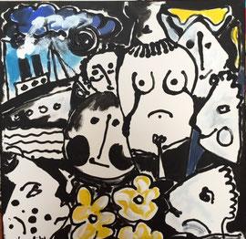 Jean-Paul Van Lith -Acrylique sur toile 80X80cm