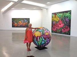 """Karen dans """"sa"""" salle au MAMAC(musée d'art contemporain de Nice)"""