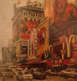 Fabienne Arietti-100X100cm-Huille sur toile-New York