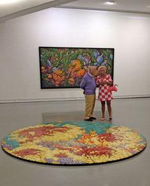 Karen et son mentor; le collectionneur et marchand d'art Daniel Cordier au MAMAC (musée d'art contemporain de Nice)