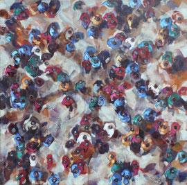 Clothilde Lasserre-Huile sur toile-80X80cm-Galerie d'art à Biot-GABEL-salon Antibes Art Fair 2014