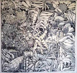 Karen Joubert-Acrylique sur toile-160X160cm-galerie Gabel -Biot-Valbonne-Antibes