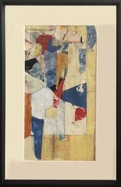 Robert Szot, techniques mixtes sur papier (gravures, pastel, collage, huile)  40,5X63cm -Galerie d'art côte d'Azur, Biot