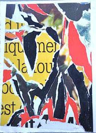 Jacques Villeglé-76x56 cm-Arrachage, épreuve d'artiste (E.A) issu d'une série de 5, numéroté III sur X Signé Jacques Villéglé-galerie d'art côte d'Azur