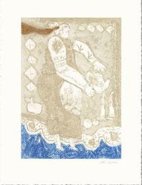 """Théo Tobiasse-""""New York tea pot"""" gravure au carborudum, signée numérotée 57/85 (encadrée)"""