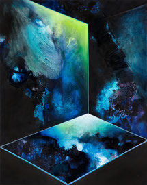 Tanja Hehmann  Tensorisme 2016 Acryl und Öl auf Leinwand 100 x 80 cm